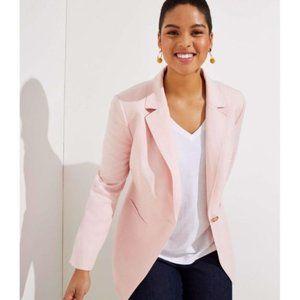 LOFT LIGHTWEIGHT MODERN BLAZER Pink Size 8 NWT